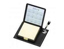 Bloco de anotações com suporte para caneta