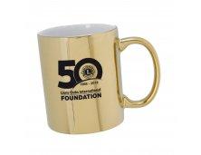 Caneca de cerâmica Dourada LCIF 50th