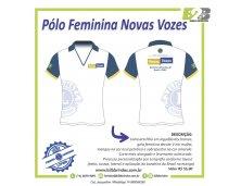 CAMISETA PÓLO FEMININA NOVAS VOZES