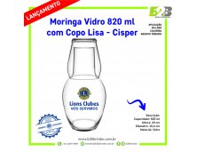 MORINGA DE VIDRO LIONS CLUBS INTERNATIONAL